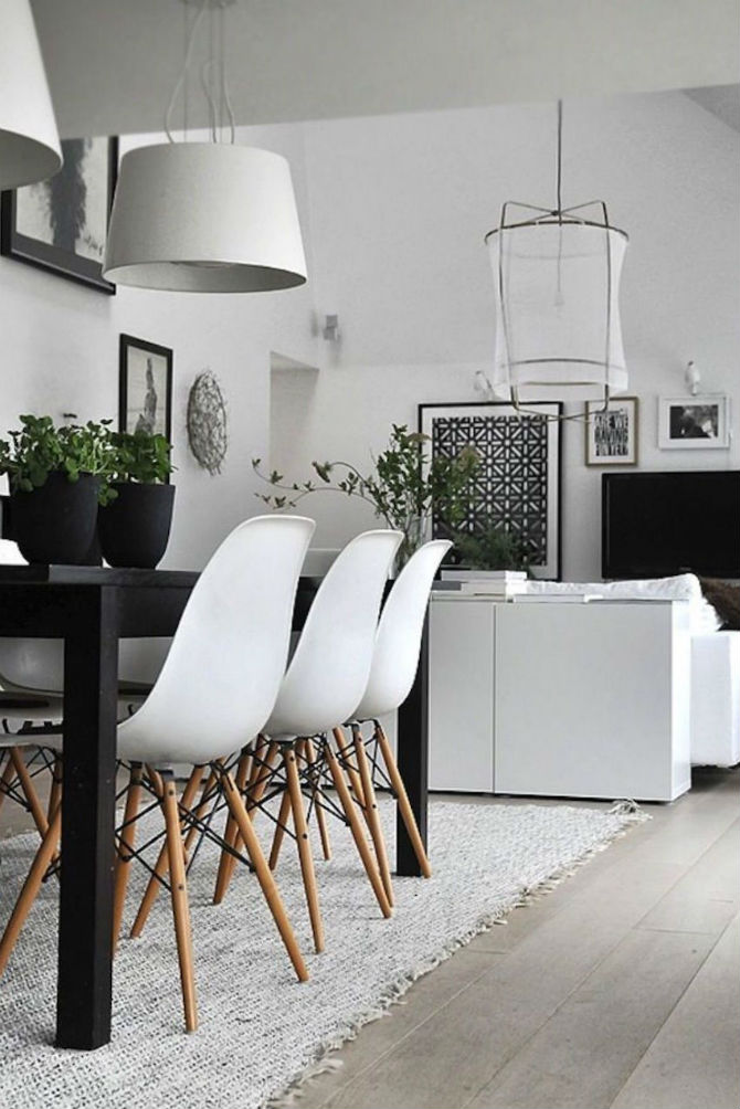 10 Modern Black and White Dining Room Sets That Will Inspire You (2) dining room sets 10 Modern Black and White Dining Room Sets That Will Inspire You 10 Modern Black and White Dining Room Sets That Will Inspire You 2