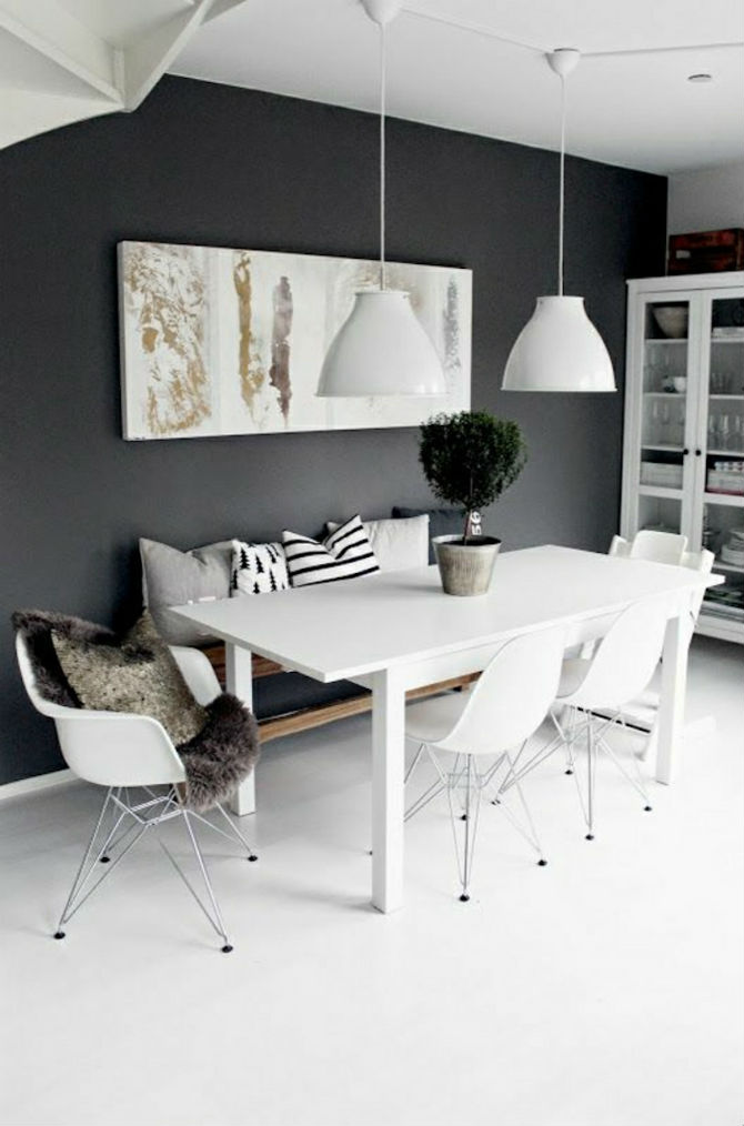 10 Modern Black and White Dining Room Sets That Will Inspire You (2) dining room sets 10 Modern Black and White Dining Room Sets That Will Inspire You 10 Modern Black and White Dining Room Sets That Will Inspire You 3