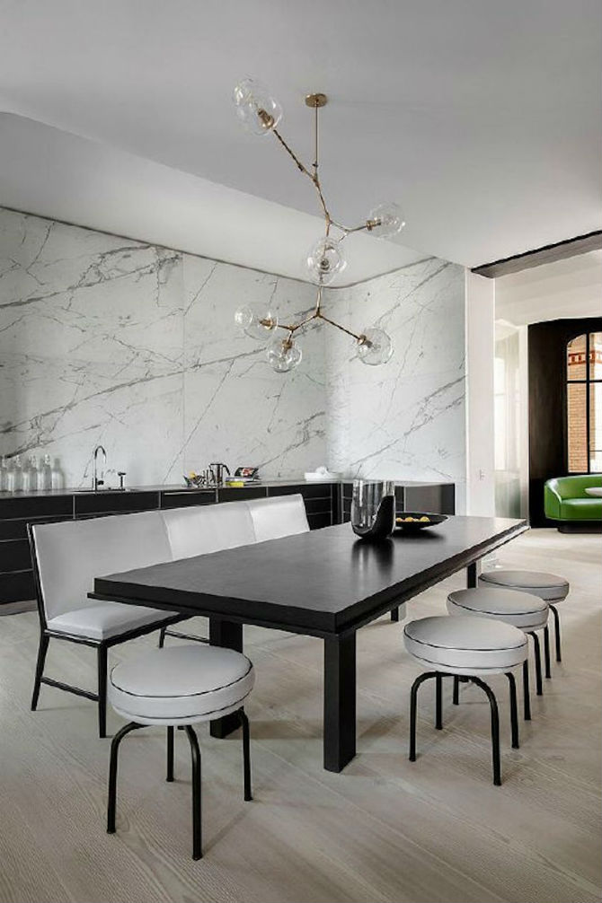 10 Modern Black and White Dining Room Sets That Will Inspire You (2) dining room sets 10 Modern Black and White Dining Room Sets That Will Inspire You 10 Modern Black and White Dining Room Sets That Will Inspire You 5