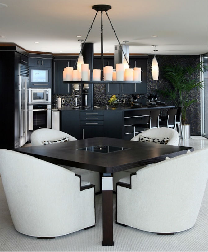 10 Modern Black and White Dining Room Sets That Will Inspire You (2) dining room sets 10 Modern Black and White Dining Room Sets That Will Inspire You 10 Modern Black and White Dining Room Sets That Will Inspire You 6