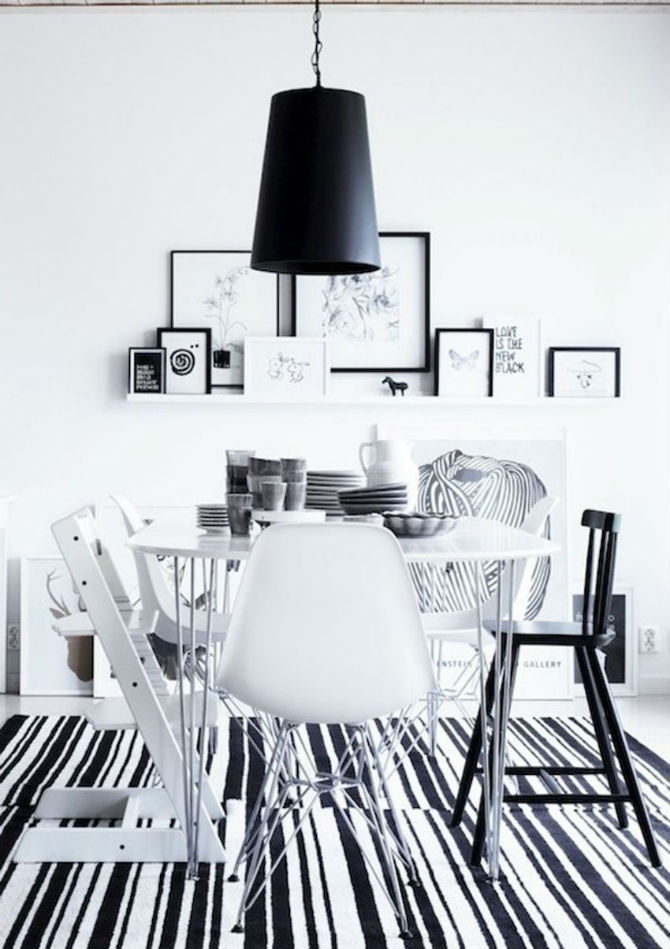 10 Modern Black and White Dining Room Sets That Will Inspire You (2) dining room sets 10 Modern Black and White Dining Room Sets That Will Inspire You 10 Modern Black and White Dining Room Sets That Will Inspire You 7
