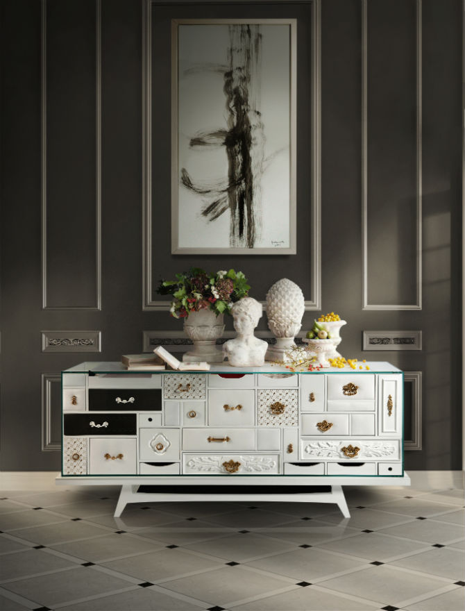 Dining Room Decor with Modern Buffets (2)
