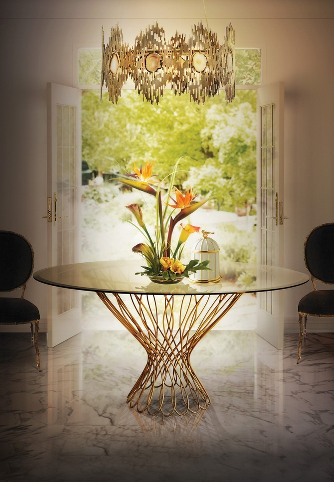 5 Luxury Dining Room Brass Tables luxury dining room 5 Luxury Dining Room Brass Tables Dining Room Design Ideas 10 Inspiration dining room tables Allure round dining room table by KOKET