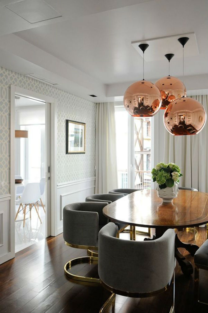 Dining Room Design by Jonathan Adler (2) Modern Dining Room Table 10 Astonishing Wood Dining Rooms: Modern Dining Room Table Dining Room Design by Jonathan Adler 3