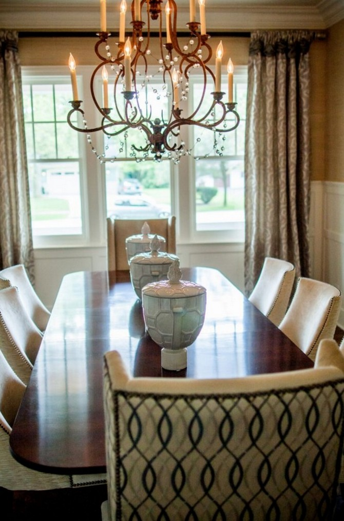 Wood top dining room table Dining room decorating ideas Dining room decorating ideas by Donna Mondi Interior Design Dining room decorating ideas by Donna Mondi Interior Design 4