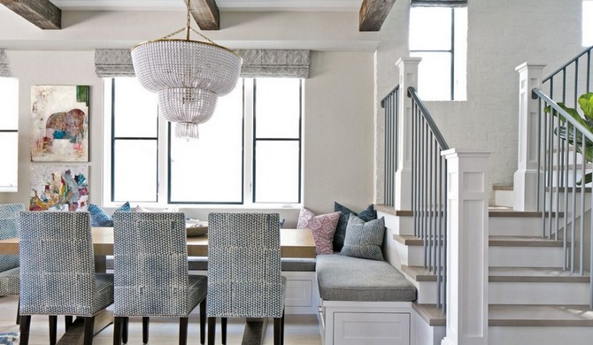 Contemporary Neutral Dining Room Interior Design With Hand-Printed Dining Chairs dining room interior design Dining room interior design: 10 neutral dining room ideas Dining room interior design 10 neutral dining room ideas 7