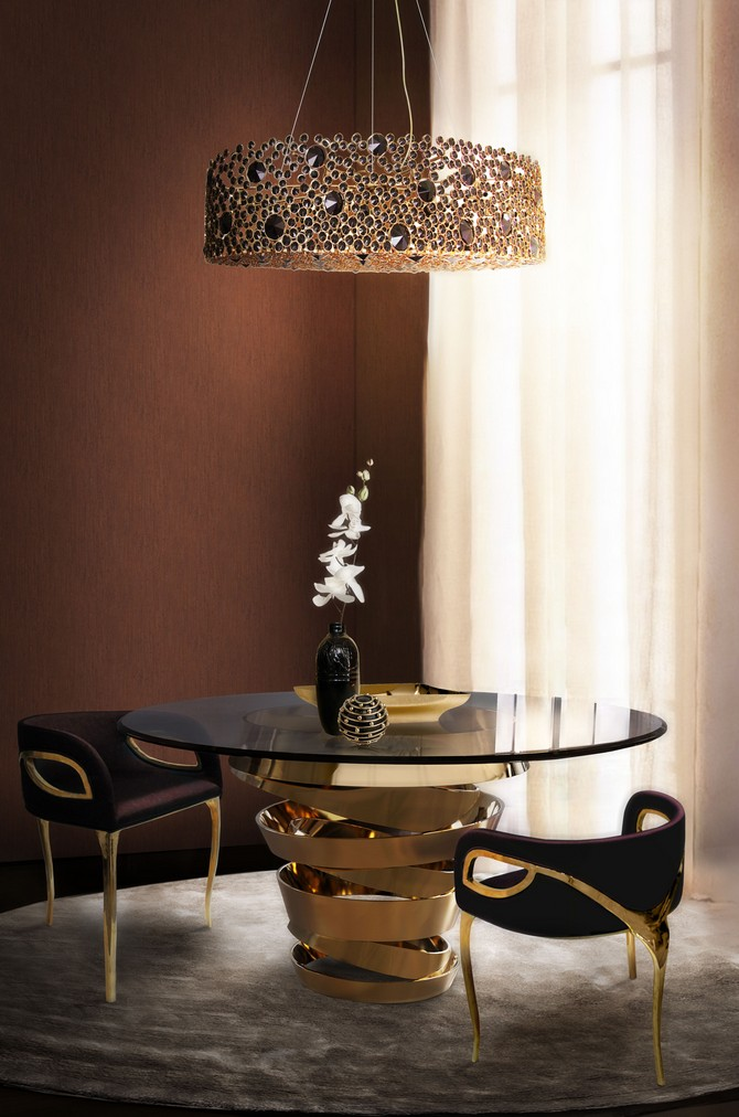 ETERNITY swarovski crystal lamp by Koket dining room lighting ideas Dining room lighting ideas - best 10 contemporary lamps Dining room lighting ideas best 10 contemporary lamps ETERNITY crystal chandelier by Koket