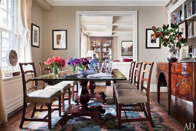 Ali Wentworth and George Stephanopoulos decorated by Michael S Smith Dining room sets Dining room sets – best celebrities dining room ideas Dining room sets     best celebrities dining room ideas 18