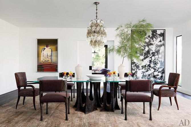 Tv producer Darren Starr dining room decorated by Waldo Fenandez Dining room sets Dining room sets – best celebrities dining room ideas Dining room sets     best celebrities dining room ideas 19