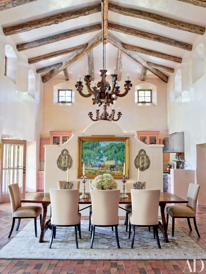 Jane Fonda's New Mexico dining room Dining room sets Dining room sets – best celebrities dining room ideas Dining room sets     best celebrities dining room ideas 3