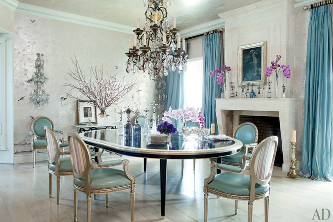 Sharon and Ozzy Osbourne dining room decor - designerd by Martyn Lawrence Bullard Dining room sets Dining room sets – best celebrities dining room ideas Dining room sets     best celebrities dining room ideas 7
