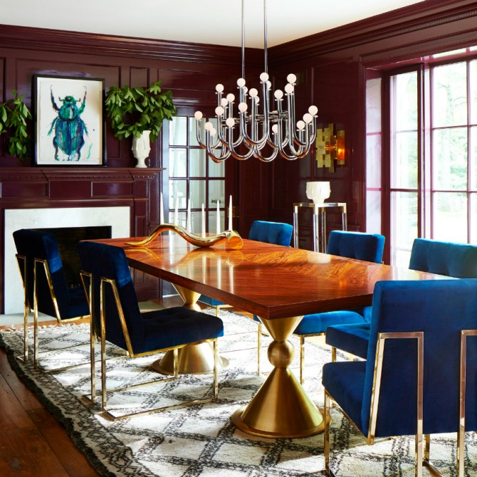 Dining Room Design by Jonathan Adler (2) Dining Room Design Dining Room Design by Jonathan Adler blue dining room 2222 e1458041929788