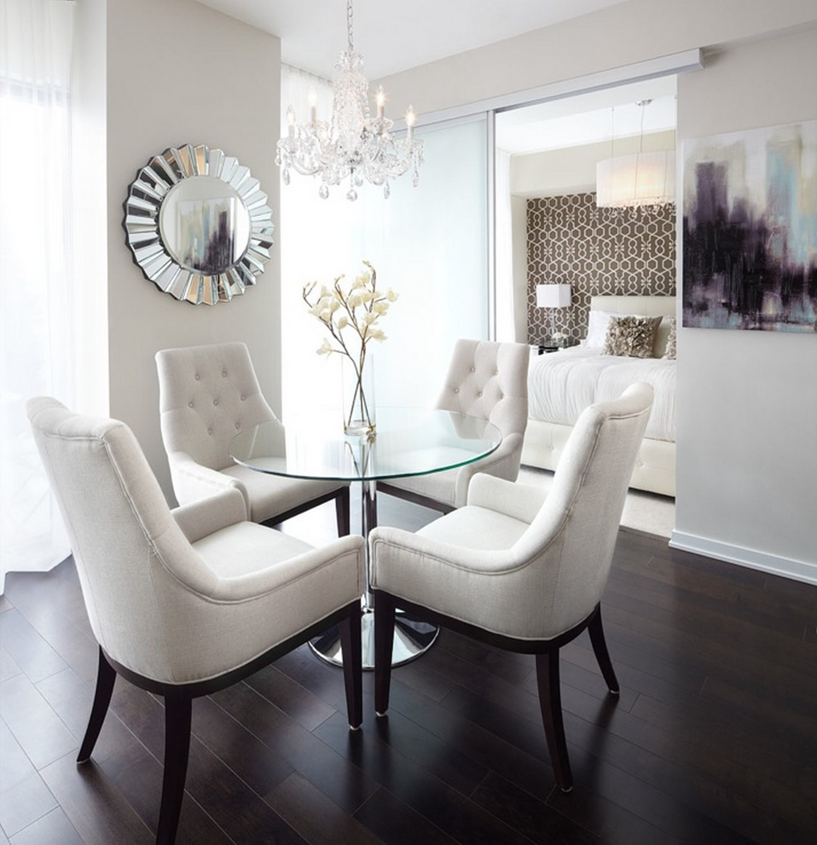 Small Contemporary Dining Room
