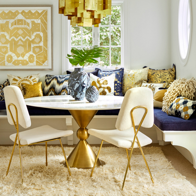 10 Round Dining Table Ideas For A Unique Room dining table ideas 10 Round Dining Table Ideas For A Unique Room jonathan adler dining room table 1