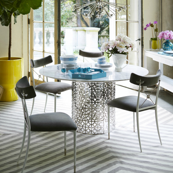10 Round Dining Tables For A Unique Room dining table ideas 10 Round Dining Table Ideas For A Unique Room jonathan adler dining room table 2