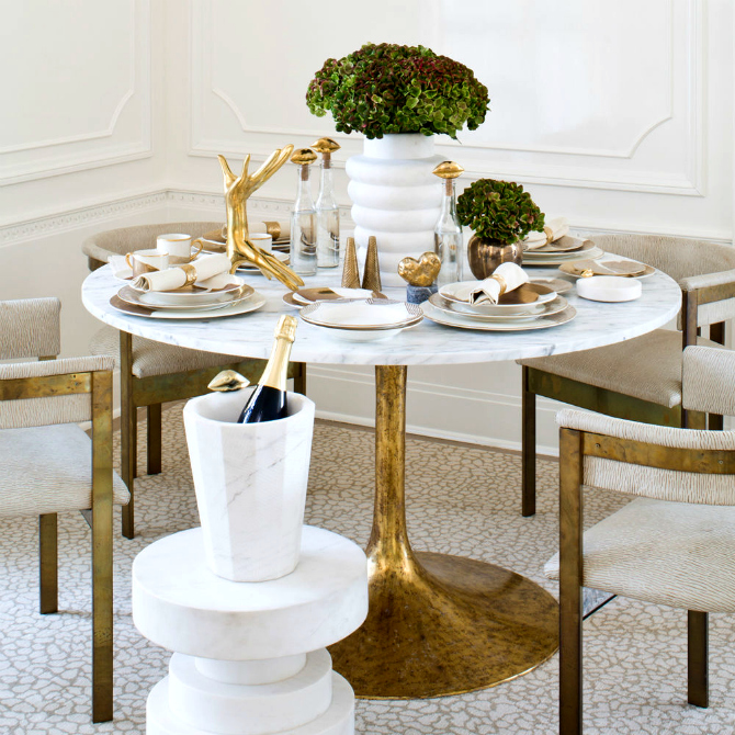 10 Round Dining Table Ideas For A Unique Room dining table ideas 10 Round Dining Table Ideas For A Unique Room kelly wearstler dining room table 1