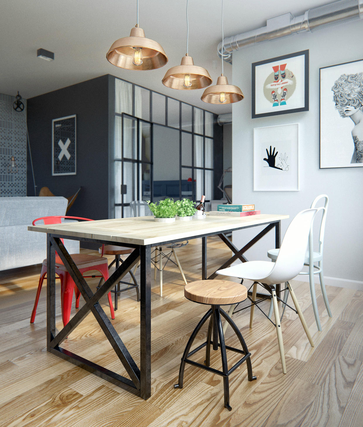 10 Ideas To Create A Trendy Industrial Dining Room Decor dining room design 10 Ideas To Create A Trendy Industrial Dining Room Design 10 Ideas To Create A Trendy Industrial Dining Room Design 9