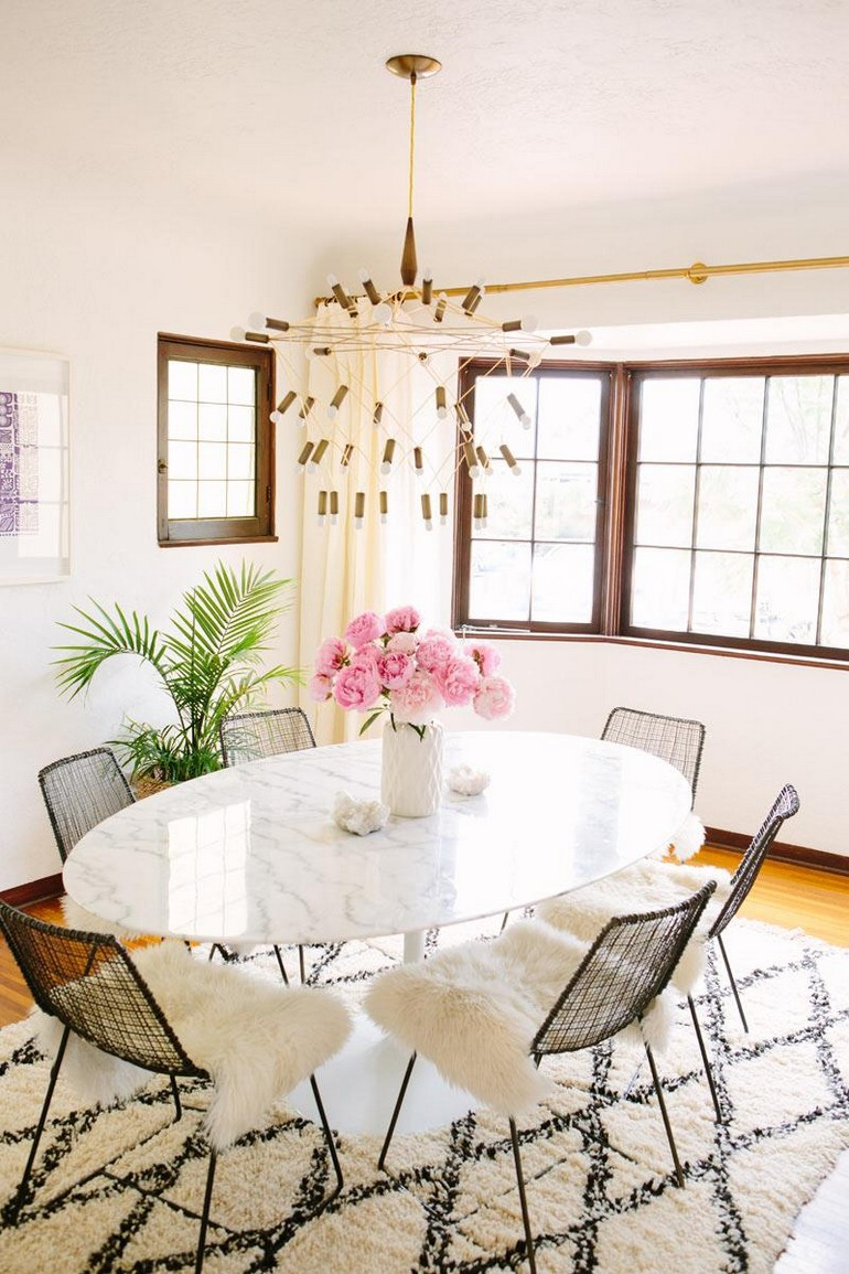 Dining room large pendant light dining room decorating ideas 15 dining room decorating ideas that will caught your eyes Dining room of A House in the Hills blogger Sarah Yates