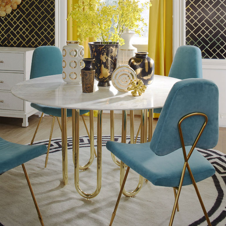 The Adler Extendable Table From Iq Furniture: Inspiring Dining Room Chairs By Jonathan Adler That Will