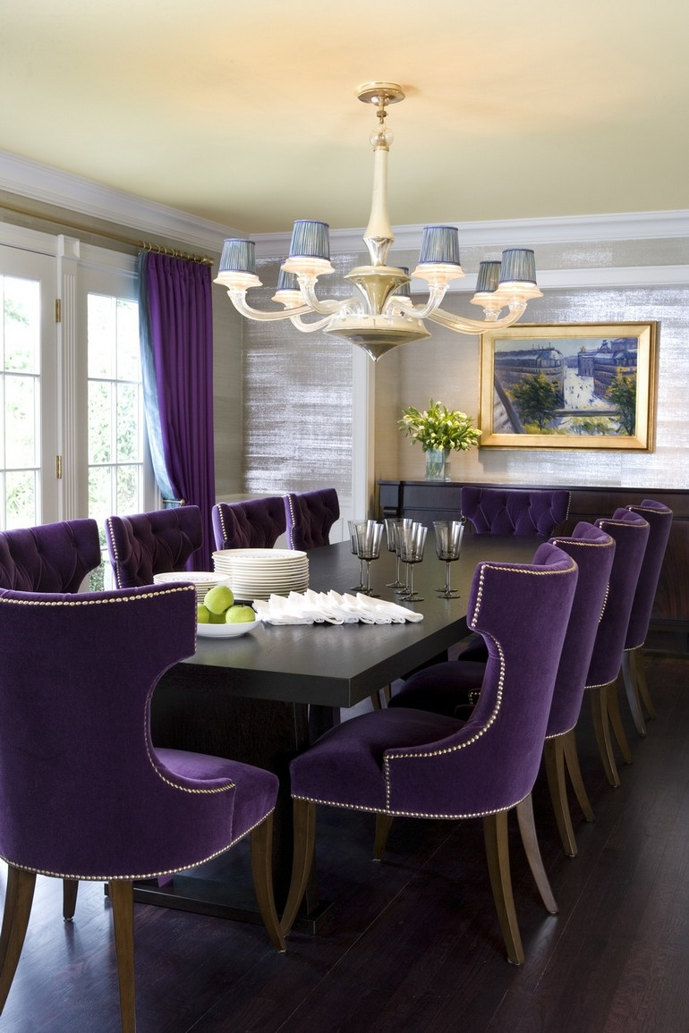 purple dining room chairs dining room ideas Sophisticated dining room ideas by Jamie Drake to inspire you Sophisticated dining room ideas by Jamie Drake to inspire you 2