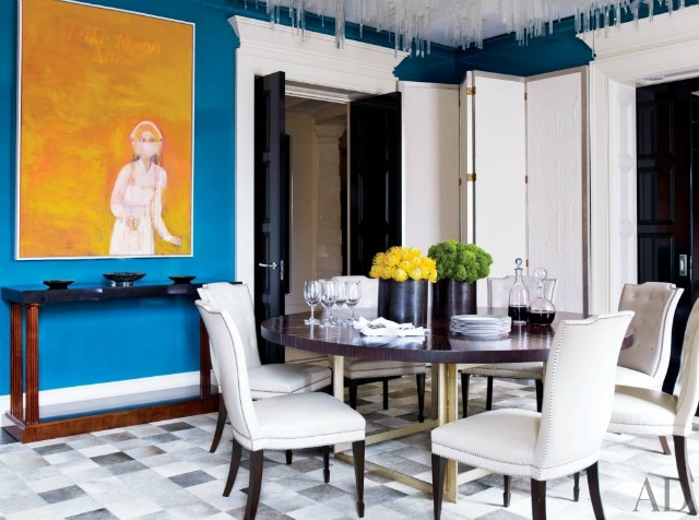 How to make a statement in your dining room design for Artful decoration interiors by fisher weisman