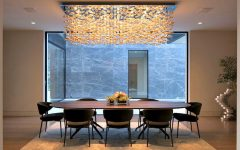 Dining Room Sets with Breathtaking Lighting Pieces