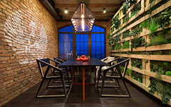 Inventive Dining Room Sets Featuring Brick Walls