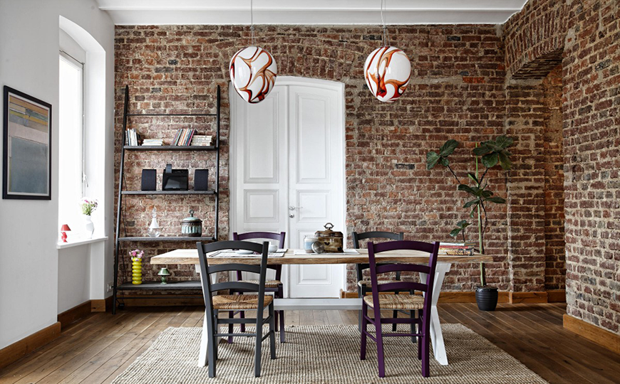 Inventive Dining Room Sets Featuring Brick Walls dining room sets Inventive Dining Room Sets Featuring Brick Walls 4Inventive Dining Room Sets Featuring Brick Walls