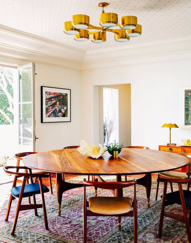 10 Large Dining Room Table Ideas Made For Entertaining dining room table 10 Large Dining Room Table Ideas Made For Entertaining 10 Fantastic Mid Century Modern Dining Room Ideas To Copy 9 1