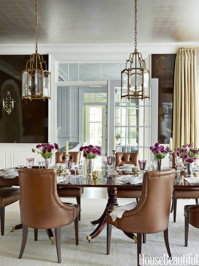 6 Outstanding Dining Room Sets To Try Out dining room sets 6 Outstanding Dining Room Sets To Try Out 54c2e40d16f53   05 hbx chocolate lacquered walls 0912 s2