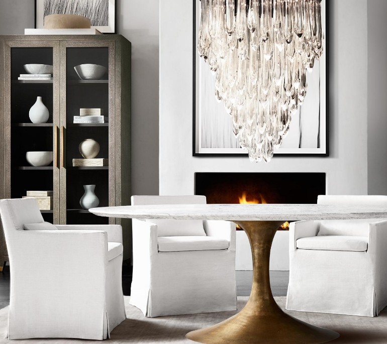The most sophisticated dining room furniture by for Restoration hardware dining room ideas