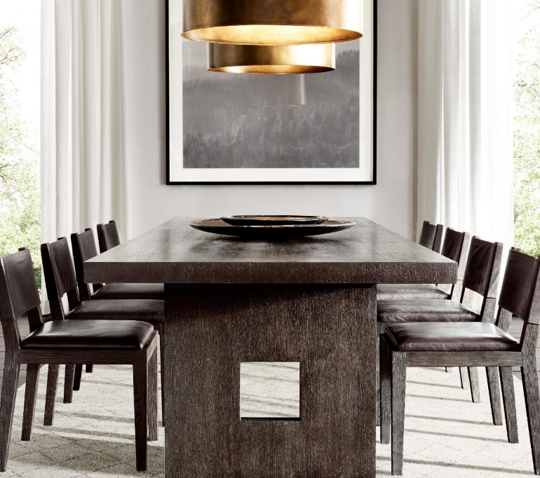 The Most Sophisticated Dining Room Table Designs By Restoration Hardware dining room furniture The Most Sophisticated Dining Room Furniture By Restoration Hardware The Most Sophisticated Dining Room Furniture By Restoration Hardware 6