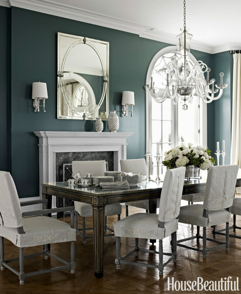 7 Wonderful Dining Room Sets In House Beautiful That You Will Love_3 dining room sets 7 Wonderful Dining Room Sets In House Beautiful That You Will Love cozy dark paint colors for a small bathroom to inspire your decorating