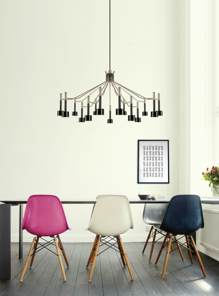 7 Dazzling Dining Room Chandeliers We Can't Resist To dining room chandeliers 7 Dazzling Dining Room Chandeliers We Can't Resist delightfull ella 15 unique fifties ceiling dining stilnovo lamp 01