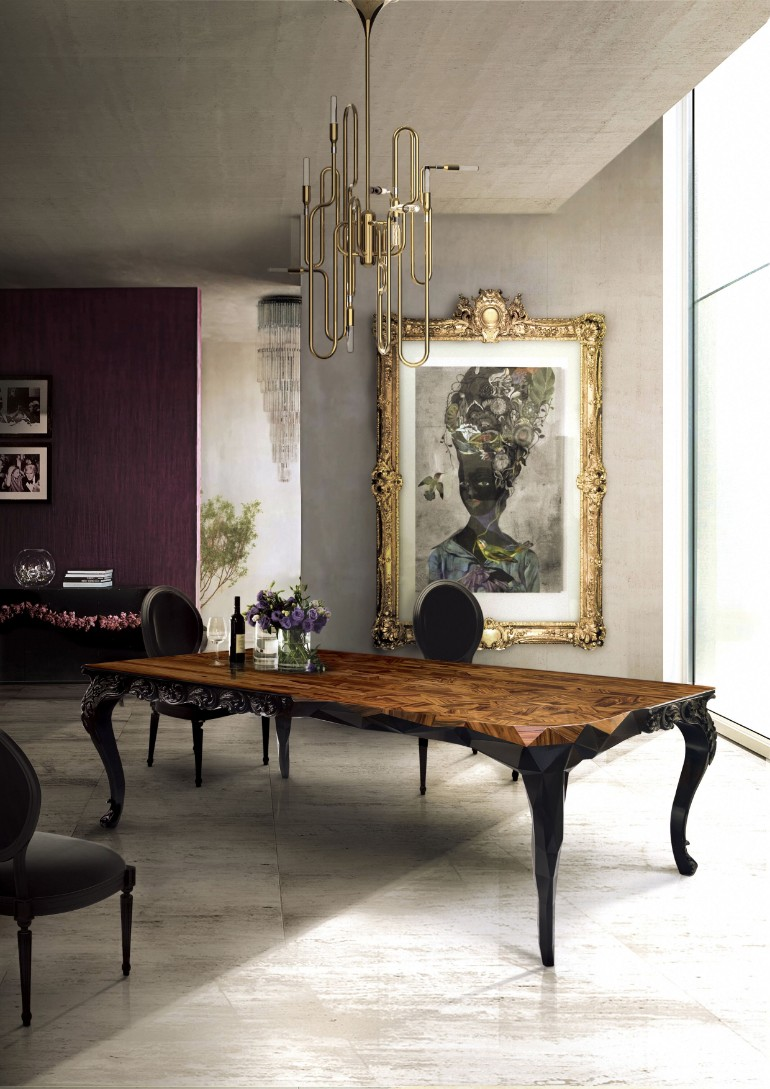 8 Dark Dining Tables For A Chic & Modern Dining Room dark dining tables 8 Dark Dining Tables For A Chic & Modern Dining Room 10 Majestic Dining Room Tables You Will Want To Have In 2017 6