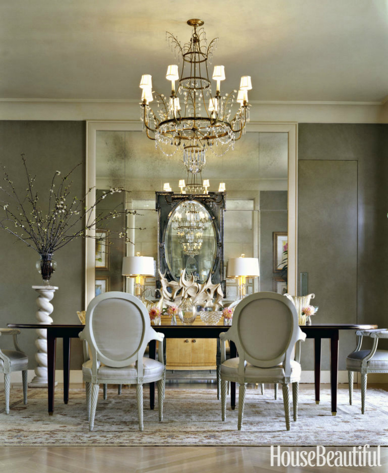 5 secrets to decorating with dining room mirrors dining for Dining room themes decor