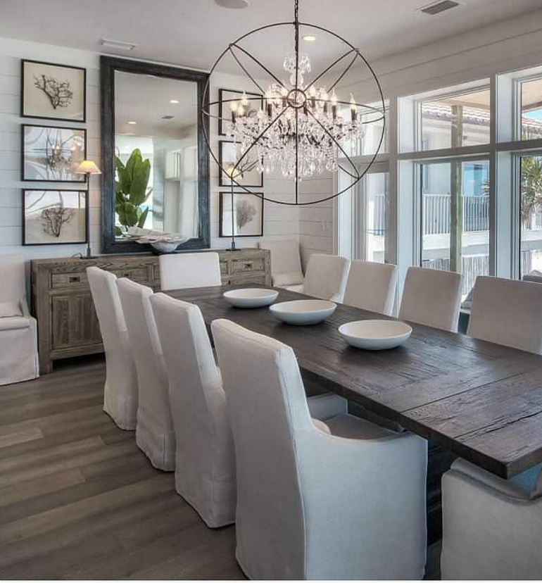 The most popular dining room design ideas on pinterest for Wall decor ideas for dining area
