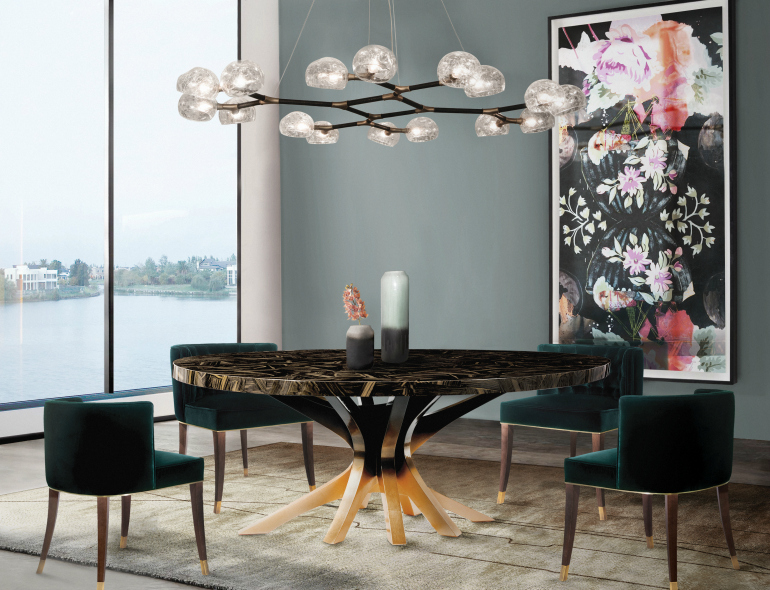 9 Round Dining Tables That Steal The Show round dining tables 9 Round Dining Tables That Steal The Show 8 Wooden Dining Room Tables For A Rustic Yet Chic De  cor 7