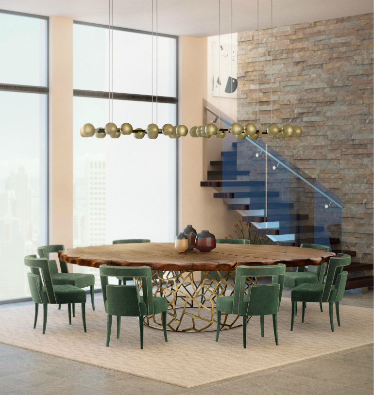 9 Round Dining Tables That Steal The Show round dining tables 9 Round Dining Tables That Steal The Show 8 Wooden Dining Room Tables For A Rustic Yet Chic De  cor 8