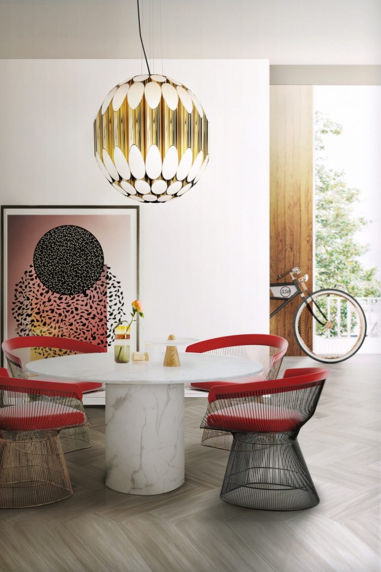 How To Add A Pop Of Color With Dining Room Furniture dining room furniture How To Add A Pop Of Color With Dining Room Furniture kravitz pendant ambience 01 HR e1500387385473