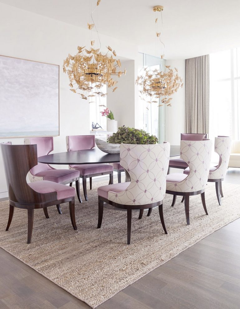 How To Add A Pop Of Color With Dining Room Furniture dining room furniture How To Add A Pop Of Color With Dining Room Furniture nymph chandelier 1 koket projects e1500387330748