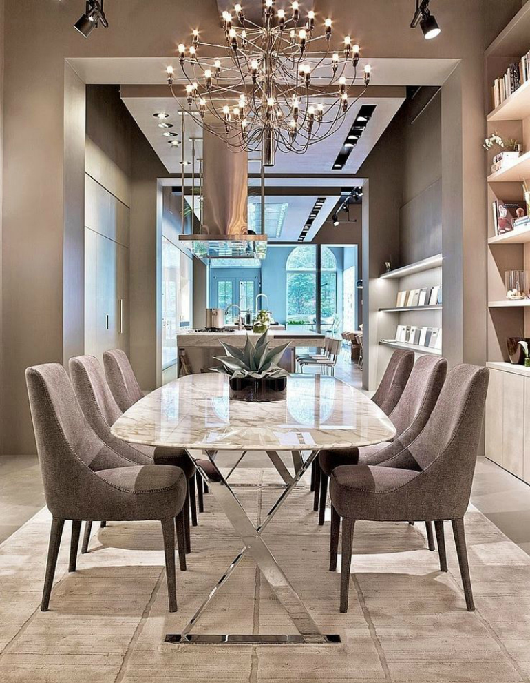 How to create a chic neutral dining room design dining for Chic dining room ideas