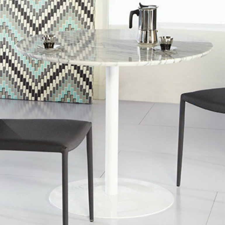 marble dining tables 9 White Marble Dining Tables You'll Love 2 1