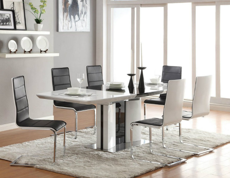 modern rugs ideas modern rugs ideas 9 Modern Rugs Ideas For Your special Dining Room A simple white rug as the key element in a modern dining room