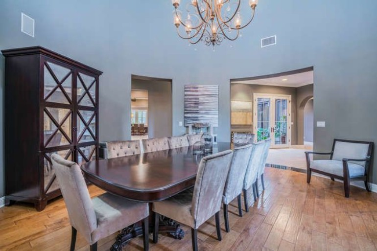 Top 10 Celebrity Homes For You To Inspire You dining room Top 10 Celebrity Dining Rooms For You To Inspire Your Dining Room logic hidden hills mansion dining room 051618