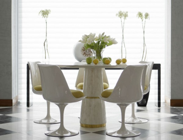 How to decorate with a Carrara Marble Dining Room Table