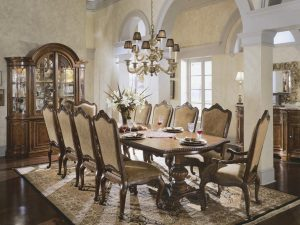 dining room Inspiration: Fabulous Dining Room Ideas Wooden dining room 300x225