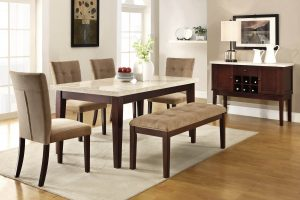 dining room Inspiration: Fabulous Dining Room Ideas wooden dining room updated 2 300x200